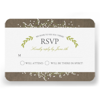 Beautifully printed RSVP cards that can be customized for your special day. Check out the Origami Prints store for invitations and other products that match this design! #floral #botanical #spring #wreath #rsvp #response #cards #olive #green #wedding