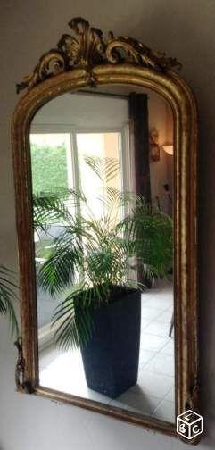 grand miroir ancien style louis xv