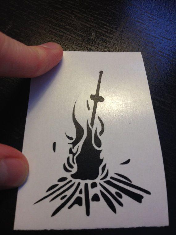 Dark Souls Bonfire Tattoo Design Tattoos Pinterest