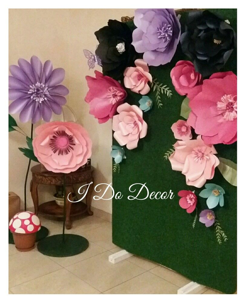 Paper flowers mad hatter party paper flowers made by i do decor paper flowers mad hatter party mightylinksfo