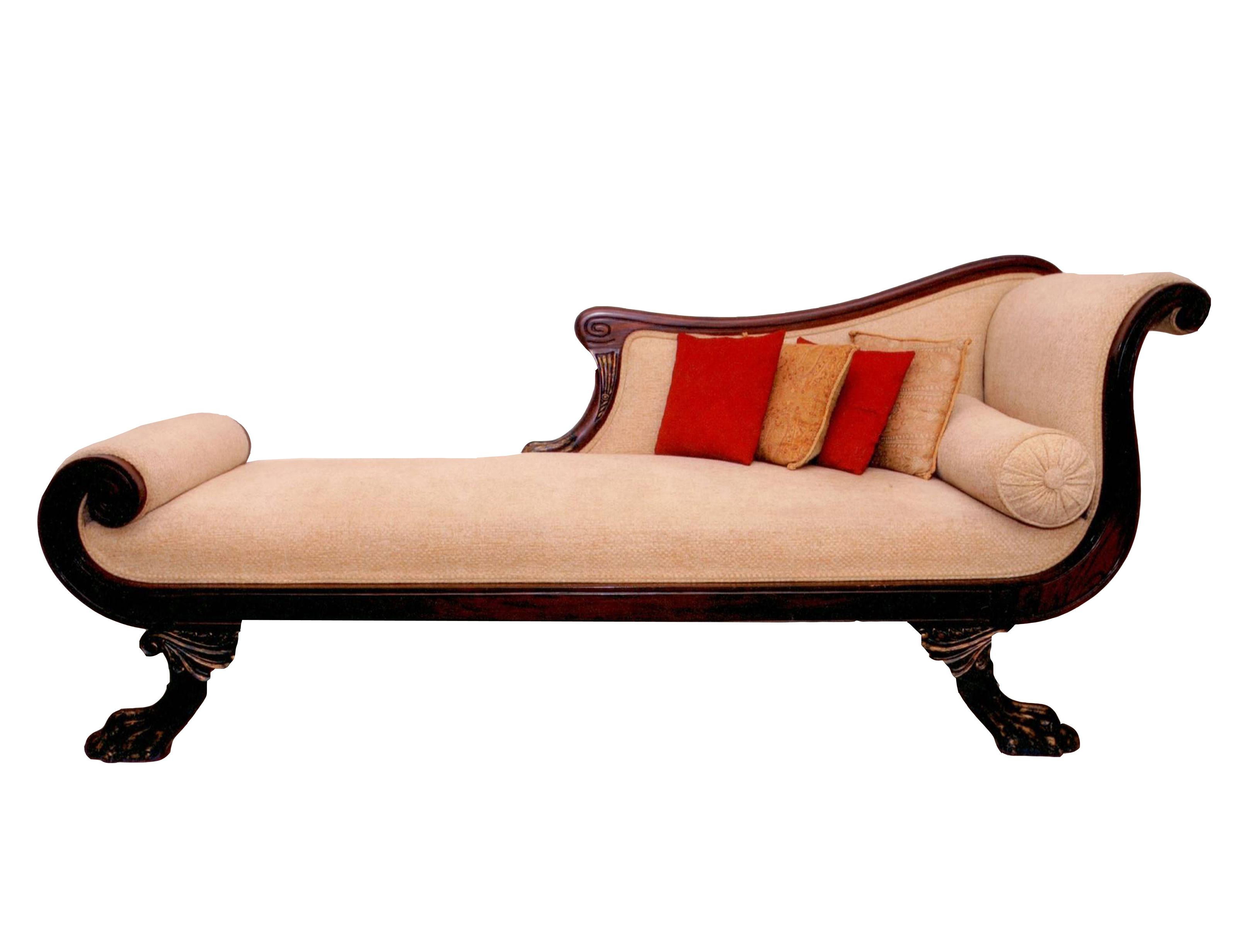 Old Fashioned Chaise Lounge & Chaise
