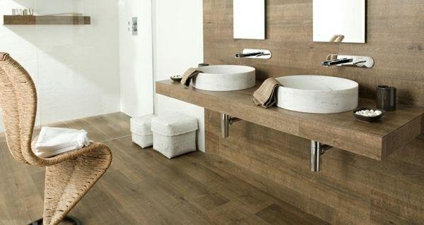 badezimmer in holzoptik – topby, Modern Dekoo