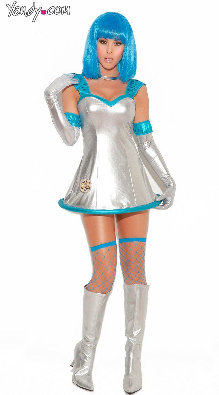 f5c2c09a4a0cd4 Have Blast Sexy Sci Fi Costume, Silver Sexy Sci Fi Dress, Sci Fi ...