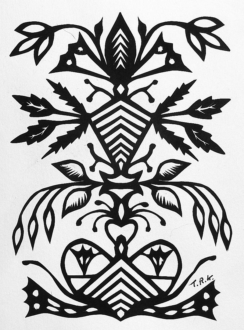 Fantasie knipwerk. Geknipt door Tiny Reinders.