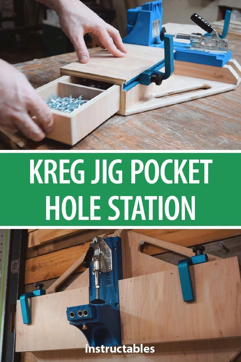 Photo of Here is a quick way to make Kreg Pocket Hole Station with drawers and stop block…