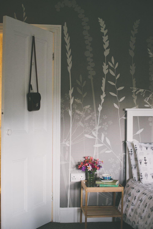 In The Tall Grass Wallpaper In Silver Hannah Nunn