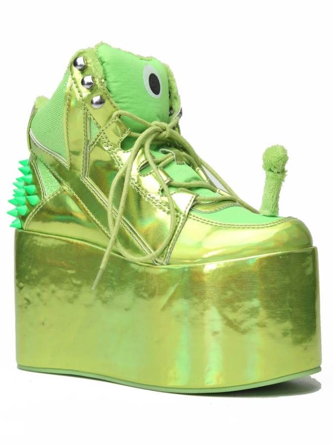 a120c12de143 YRU Green Alien PlatformsAwesome quirky platform shoes from YRU! These  stunning
