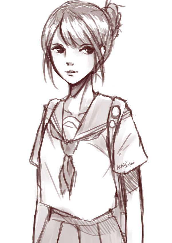 School Girl Sketch Girl Sketch School Girl Girl Drawing Sketches