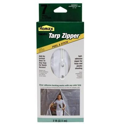 Homax 7 Ft Clear Tarp Zipper Door 3142 With Images Tarps Bottle Opener Wall Home Depot