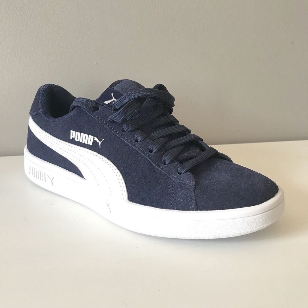 ab7881e0b62a Puma Smash V2 suede Jr. blue sneaker 4 right foot ONLY tennis single  amputee new  PUMA  Athletic