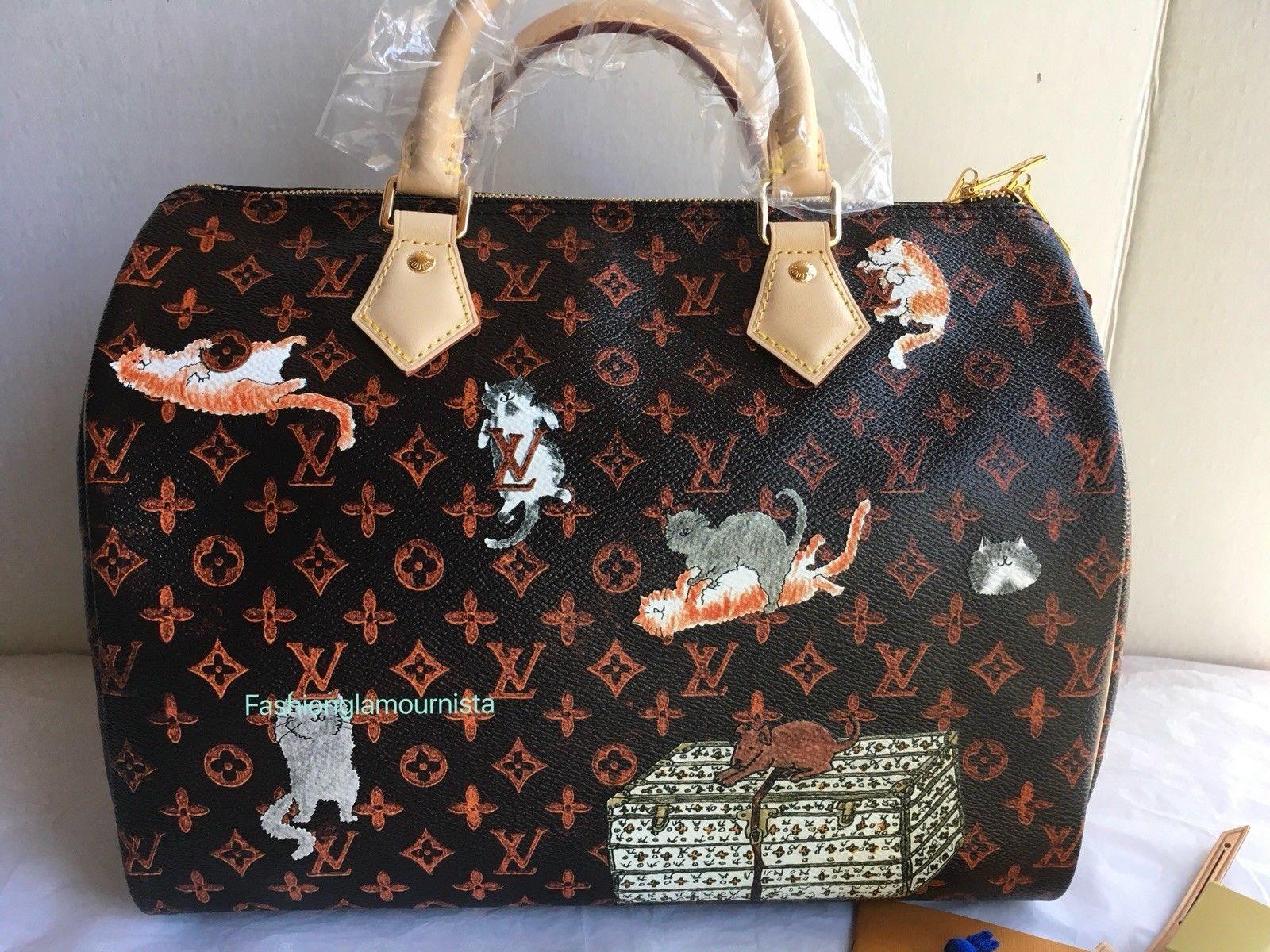 Auth Bnib Louis Vuitton Catogram Speedy Bandouliere 30 Grace Coddington Bag Louis Vuitton Louis Vuitton Speedy Bandouliere Bags