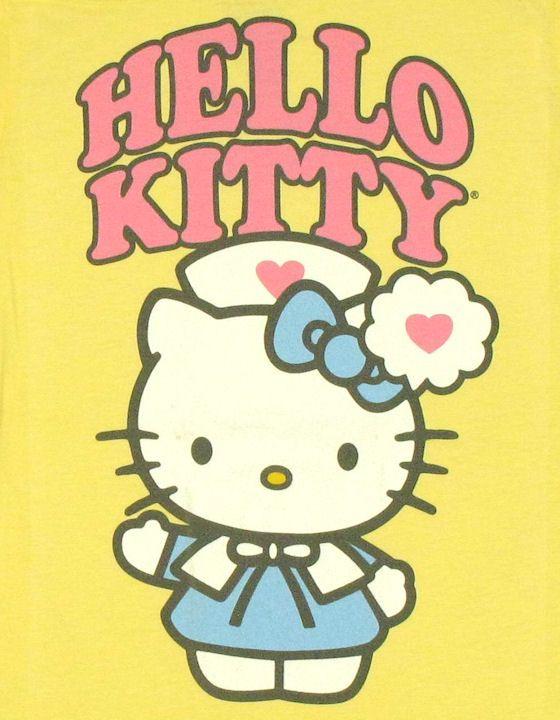 Hello Kitty Nurse Baby Tee Tattoo Hello Kitty Hello Kitty