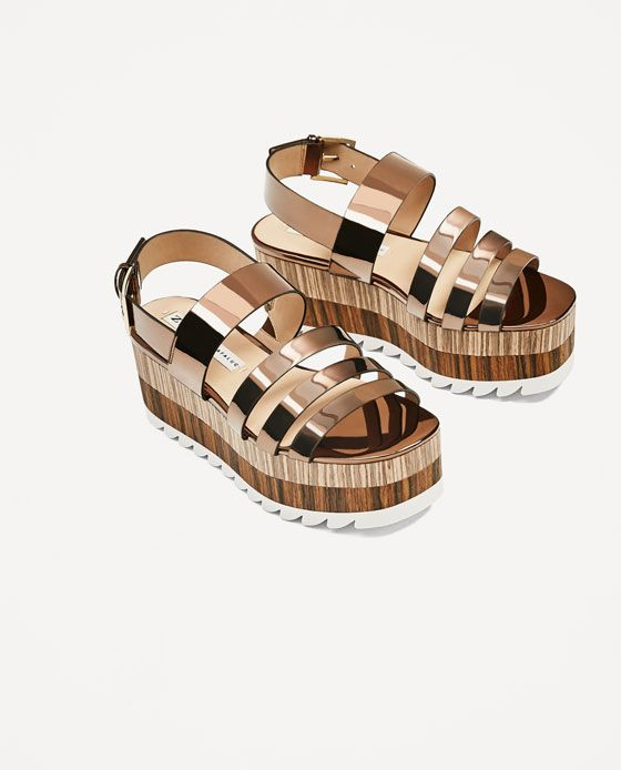 $70 ZARA CONTRAST Color: WEDGES Color: CONTRAST Copper Size: 10 | For the Foot ... 2ec85e