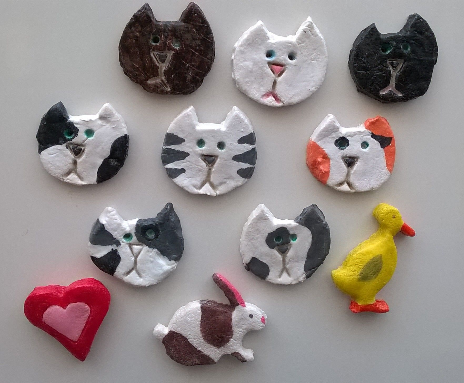 Salt Dough Fridge Magnets Cats Etc Homemade Ornaments Kids Easter Kids Kids Ornaments