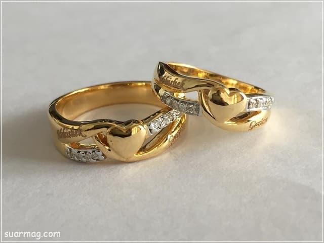 اجمل صور خواتم ذهب رقيقه جدا 2020 تجنن Gold Rings Gold Rings Simple Rings