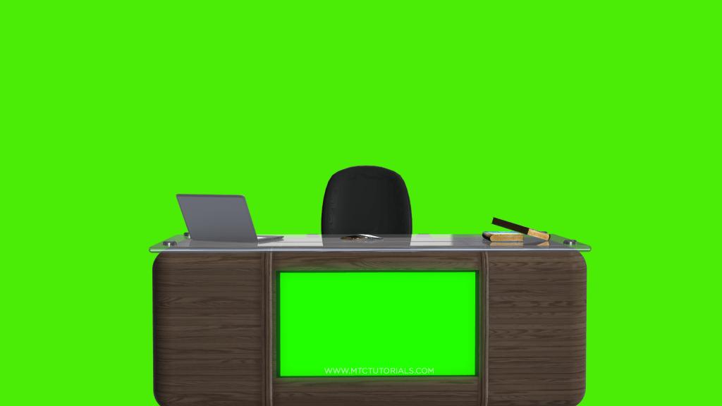 Studio Desk Free Backgrounds Table And Chair Mtc Tutorials Studio Desk Green Background Video Greenscreen