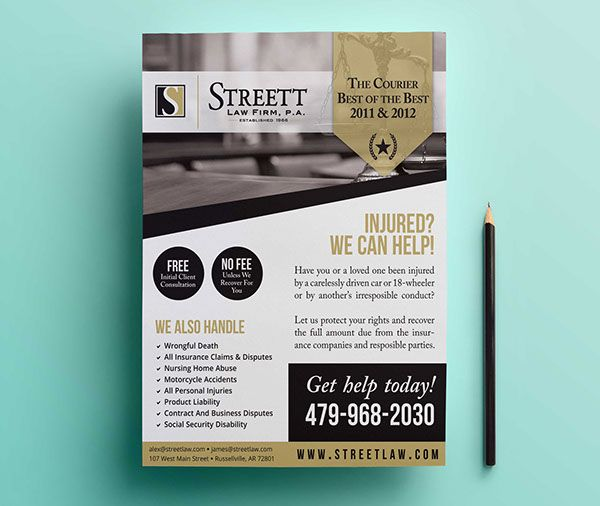 Law Firm Ad Design on Behance Graphic Design Pinterest Ads - law firm brochure