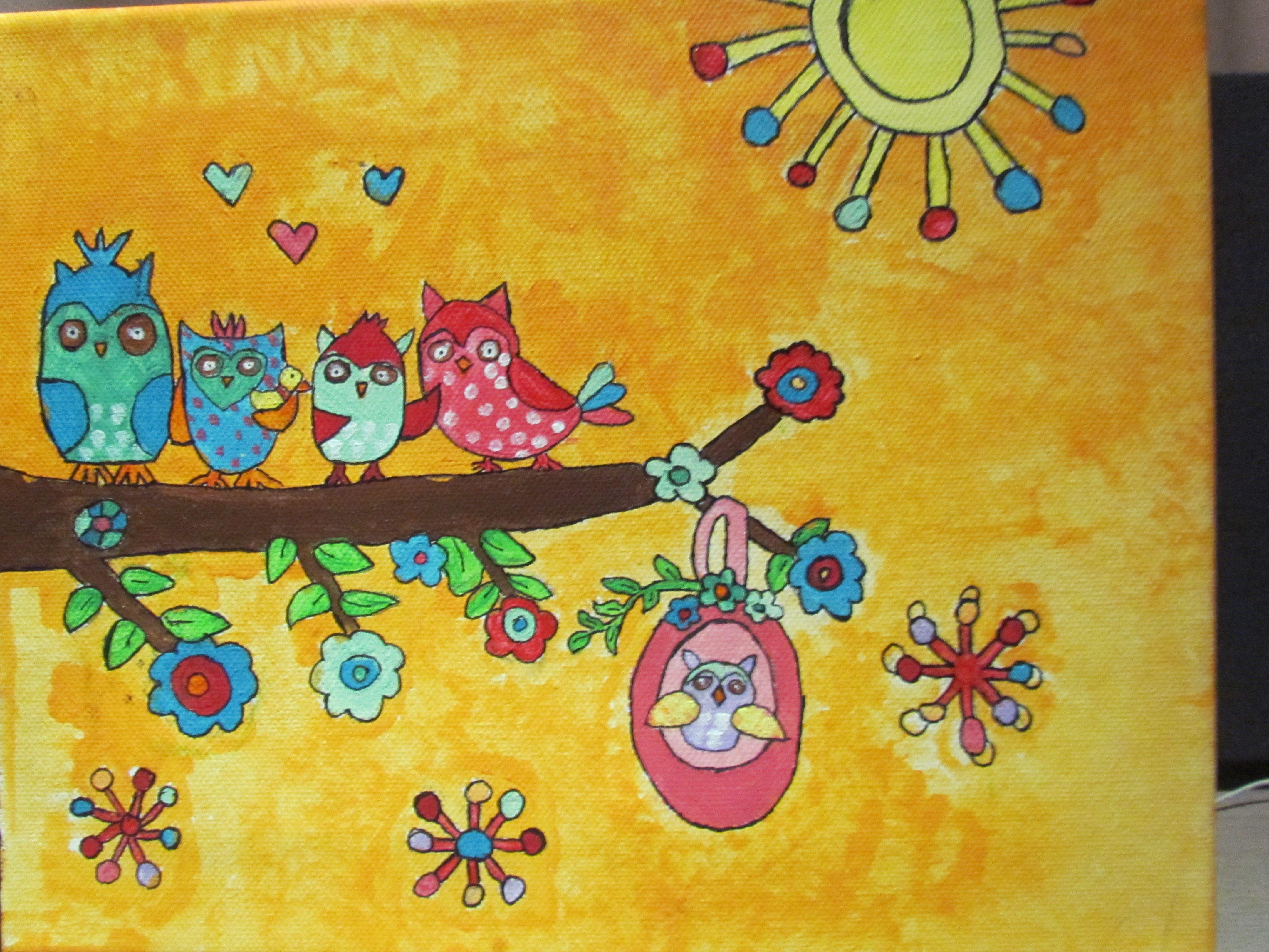Schilderijen Kinderkamer Voorbeelden : Schilderij voor op een kinderkamer kinderslaapkamer