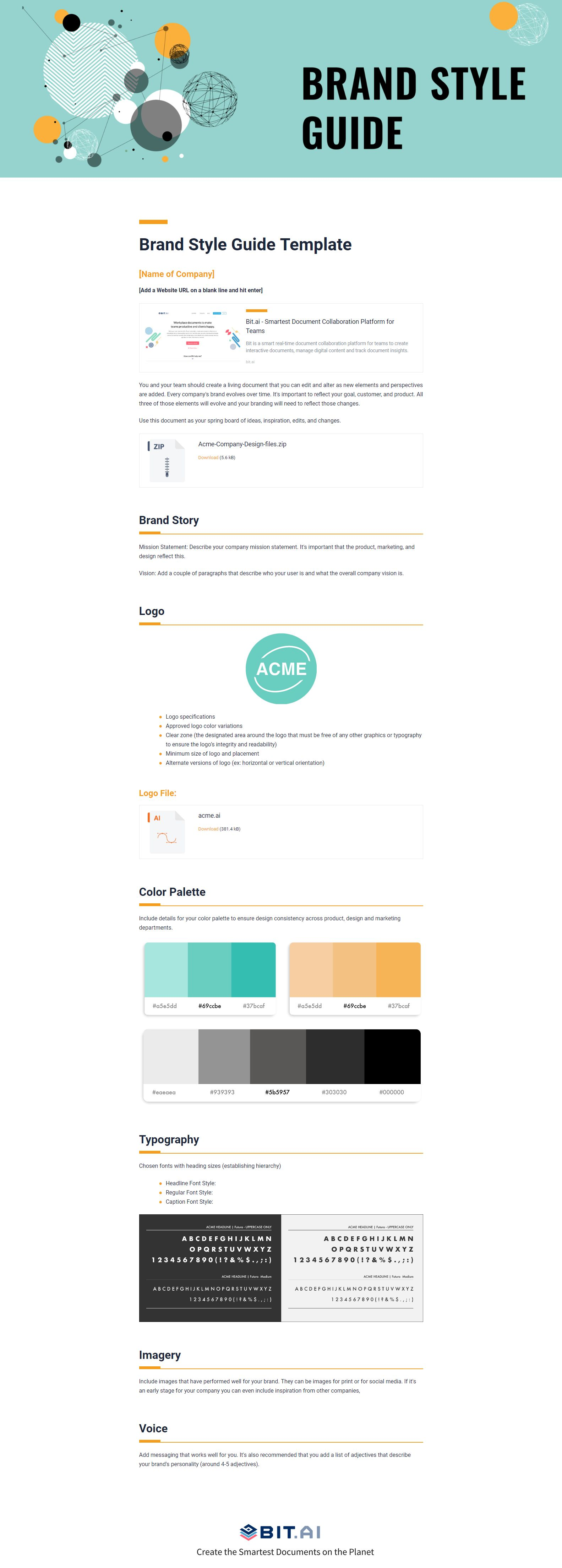 Guide Templates 🎨the Smartest Brand Style Guide Template On The 🌎planet 👉 Https .