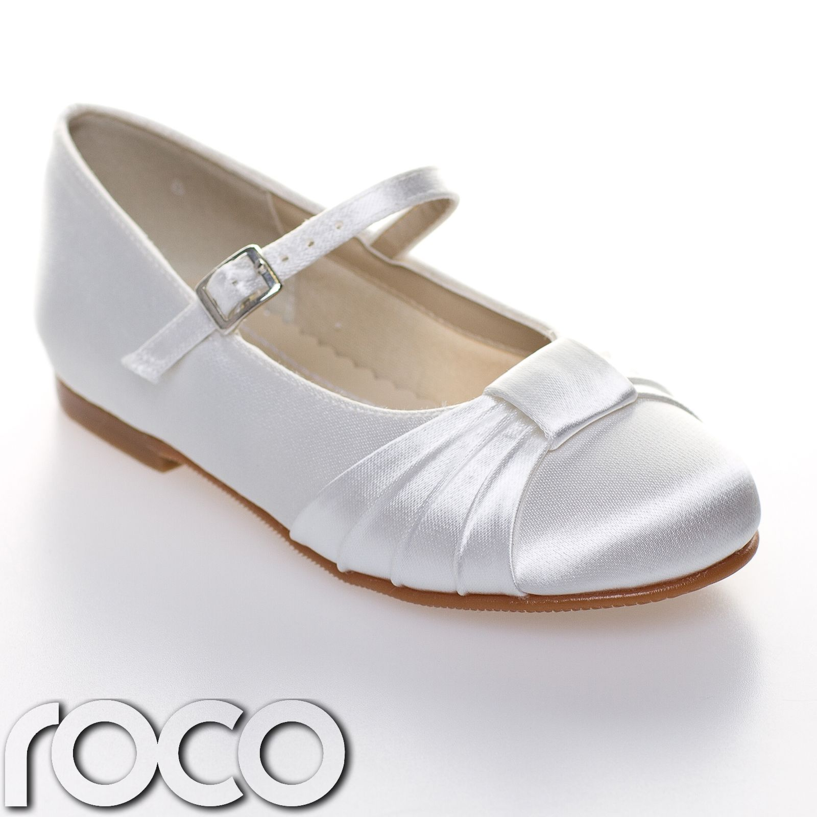 Girls White Communion Shoes Flower Girl Shoes Bridesmaid Shoes