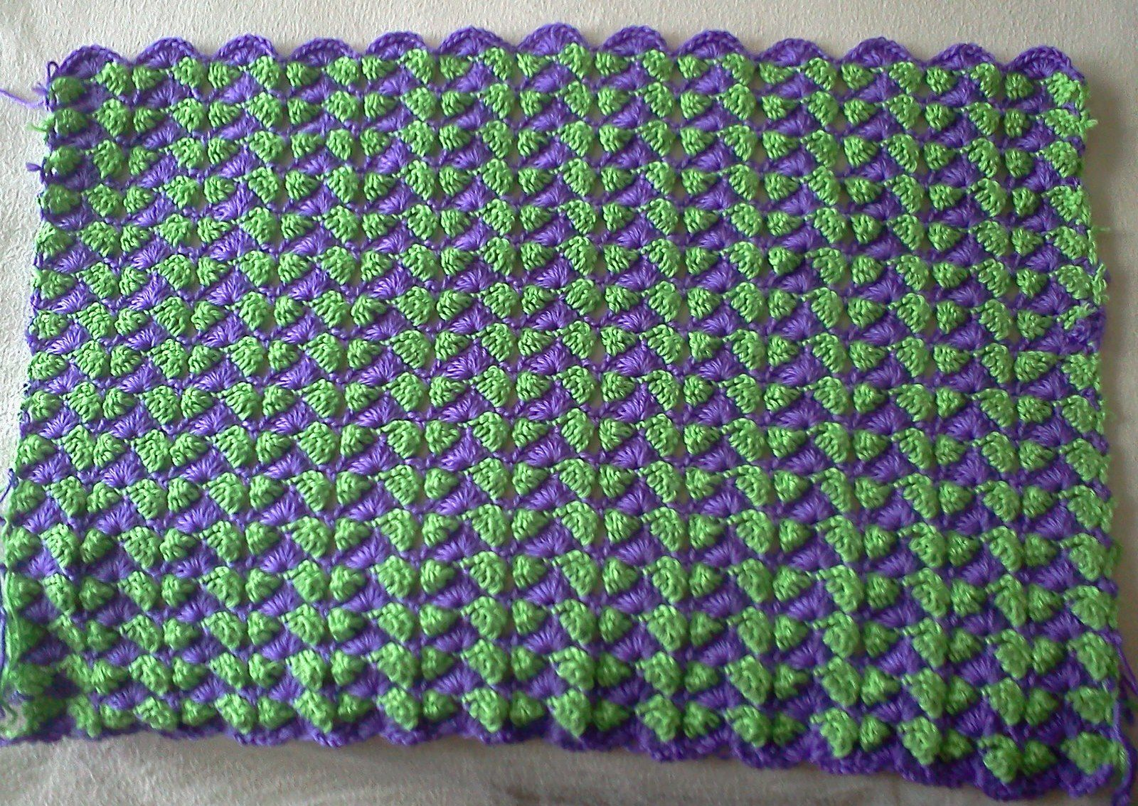 Crocheted afghan - grand daughter's choice side one.