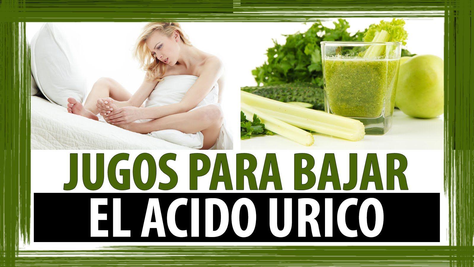 jugos para controlar acido urico