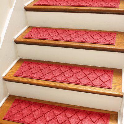 Best Tucker Murphy Pet Beaupre Red Argyle Stair Tread Carpet 640 x 480