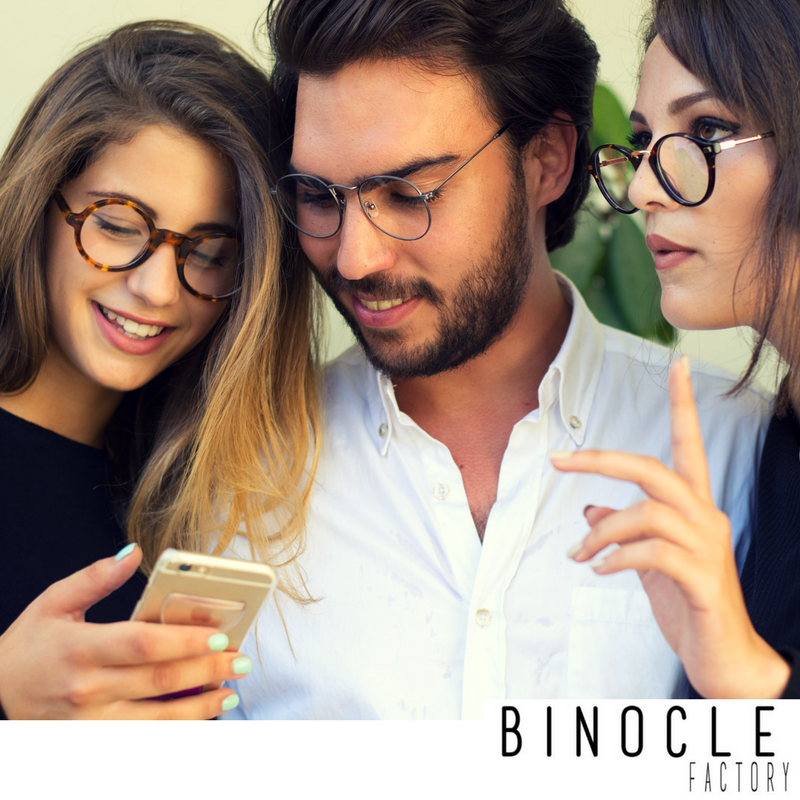 Quotes, all about Glasses and Smile.. Binocle-factory
