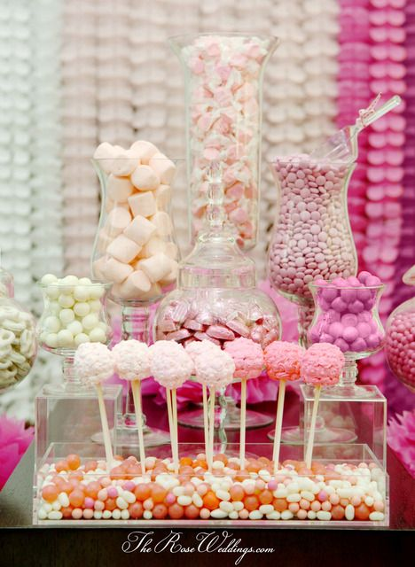 Ombre Pink Dessert Table Bridal/Wedding Shower Party Ideas ...