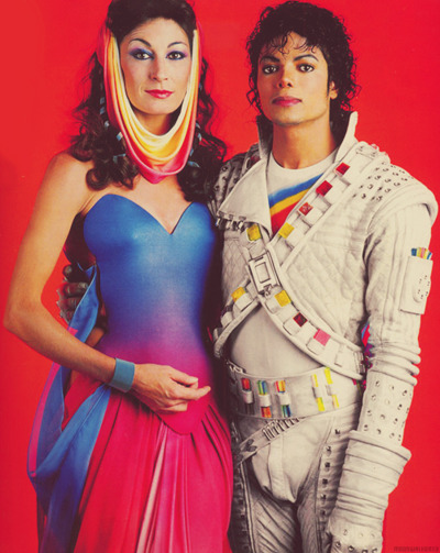 Angelica Huston & Michael Jackson in Captain EO  this my favorite when i was little