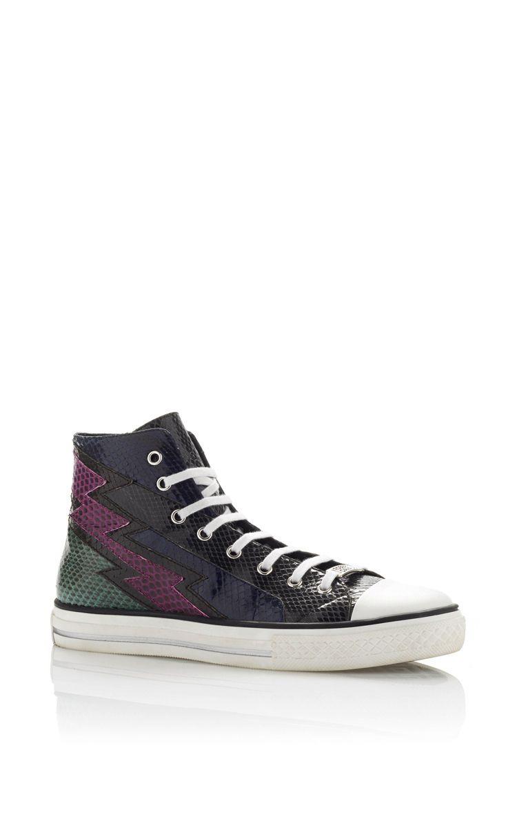 ROBERTO CAVALLI Water Snake High Top Sneakers. #robertocavalli #shoes #sneakers