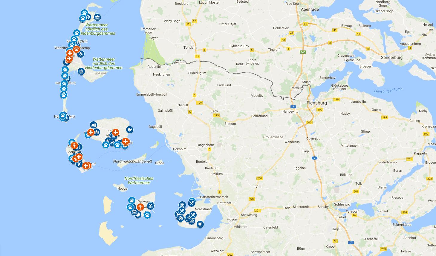 Nordfriesische Inseln Karte Nordseeinseln Insel Nordsee
