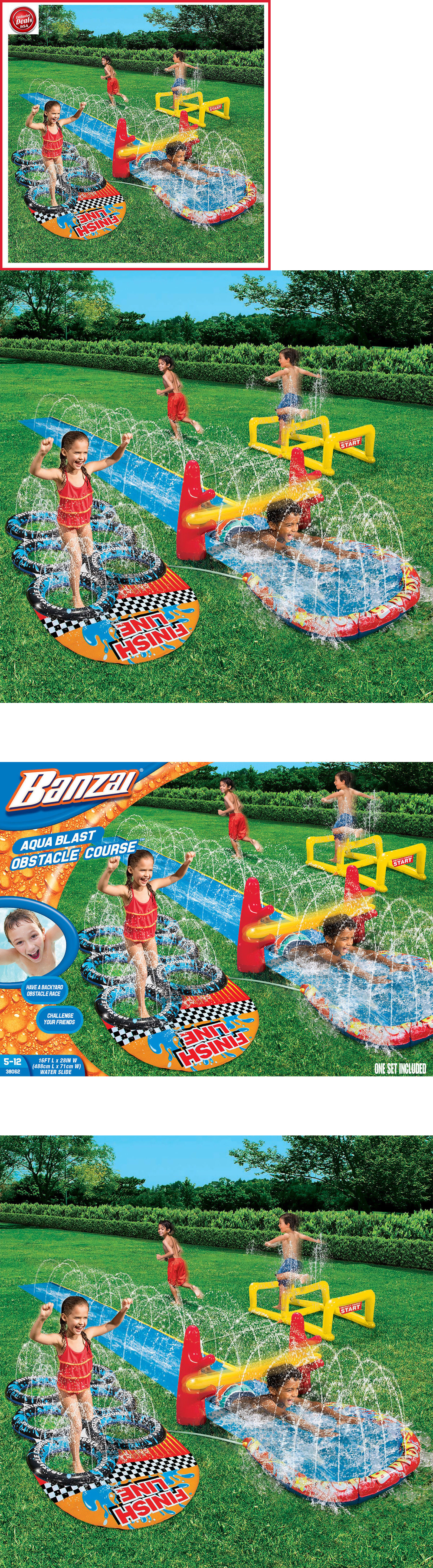 water slides 145992 water slide inflatable obstacle course jump