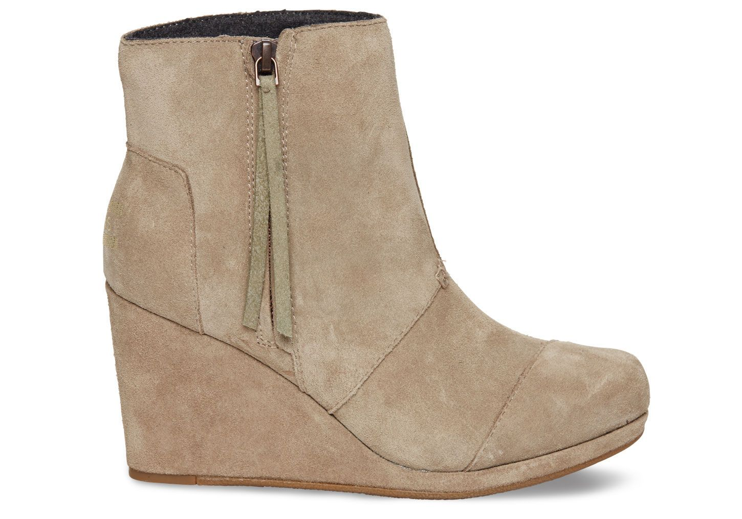 37775802ceb8 Taupe Suede Women s Desert Wedge Highs