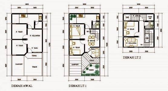 Foto Denah Rumah Minimalis 2 Lantai Type 36 | Denah rumah ...