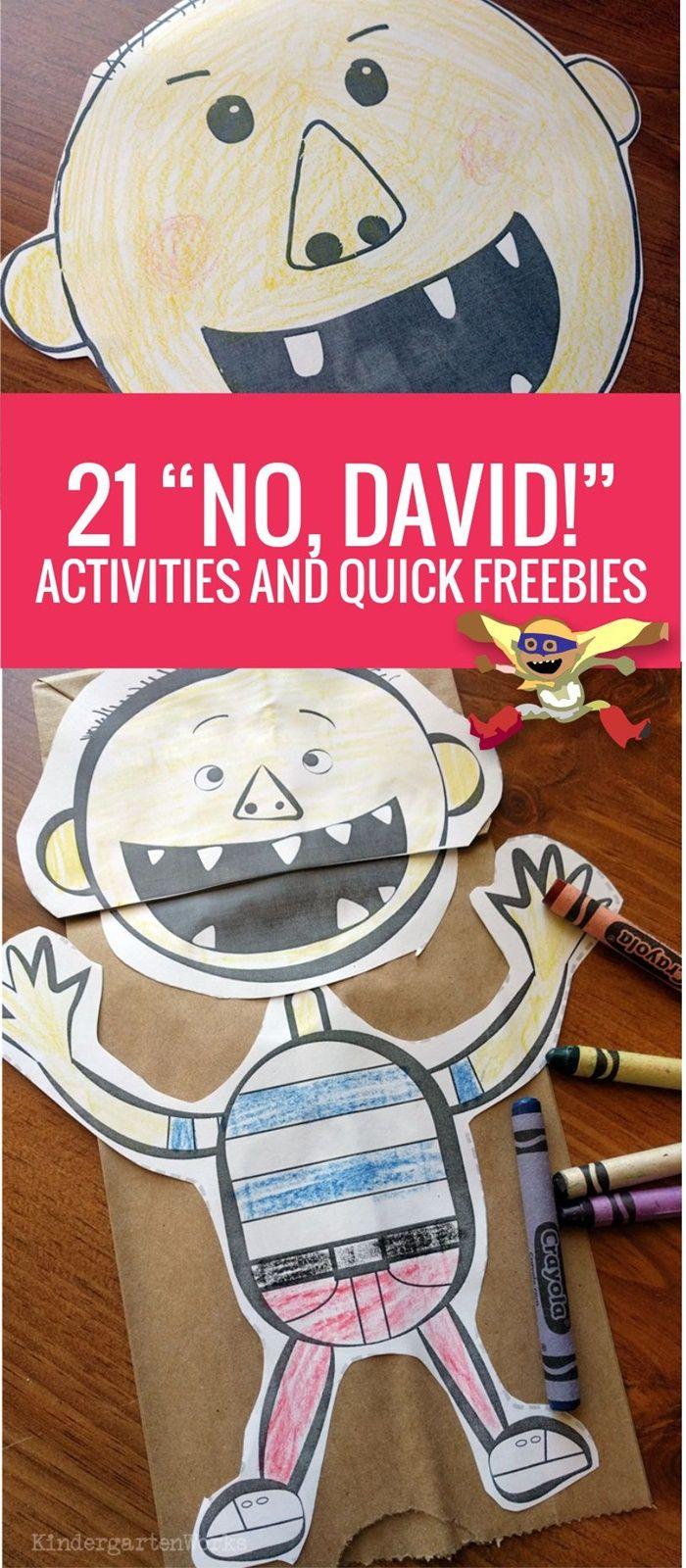 Kinder Garden: 21 No David Activities And Quick Freebies