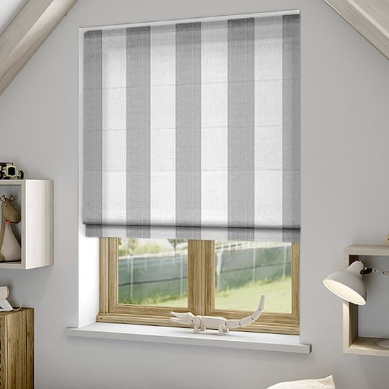 Amelie Grey Roman Blind Roman Blinds Grey Roman Blinds