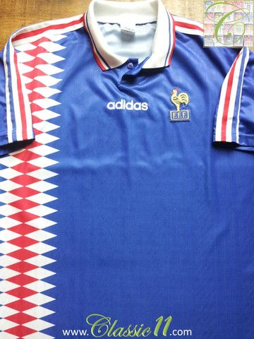 Relive France s 1994 1995 international season with this vintage Adidas  home football shirt. 9312b5f1f