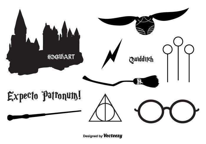 219ab825fe154 Hogwarts Vector Icons   ideias em 2019   Pinterest   Hogwarts, Harry ...
