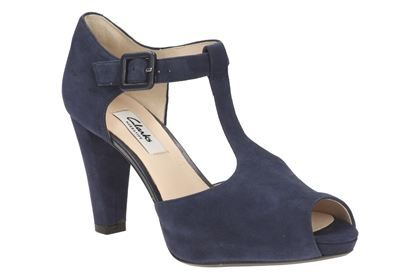 603166ca00b Kendra Flower in Navy Suede from Clarks shoes