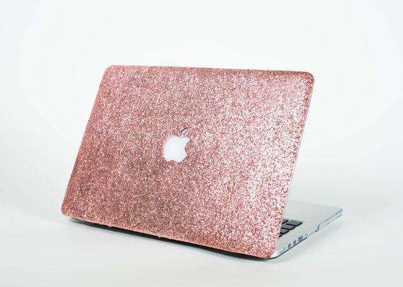 glitter macbook case rose gold by embrishop on etsy
