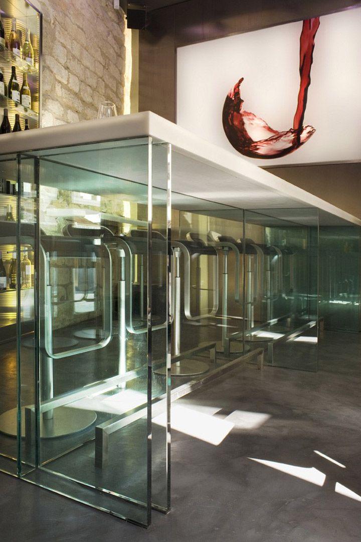La Cave A Vin 9 Wine Bar By Cyrille Druart Paris Retail Design