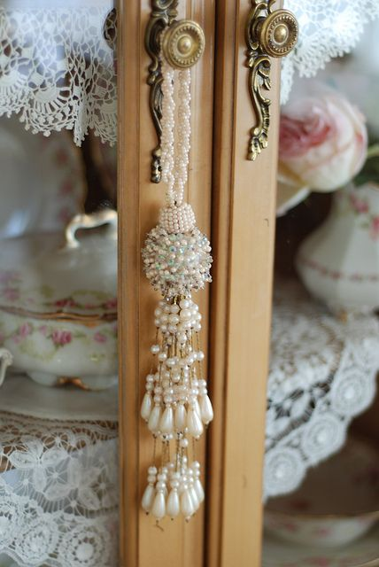 Pearls and laces and china! oh, MY! Foofalicious Details :-)