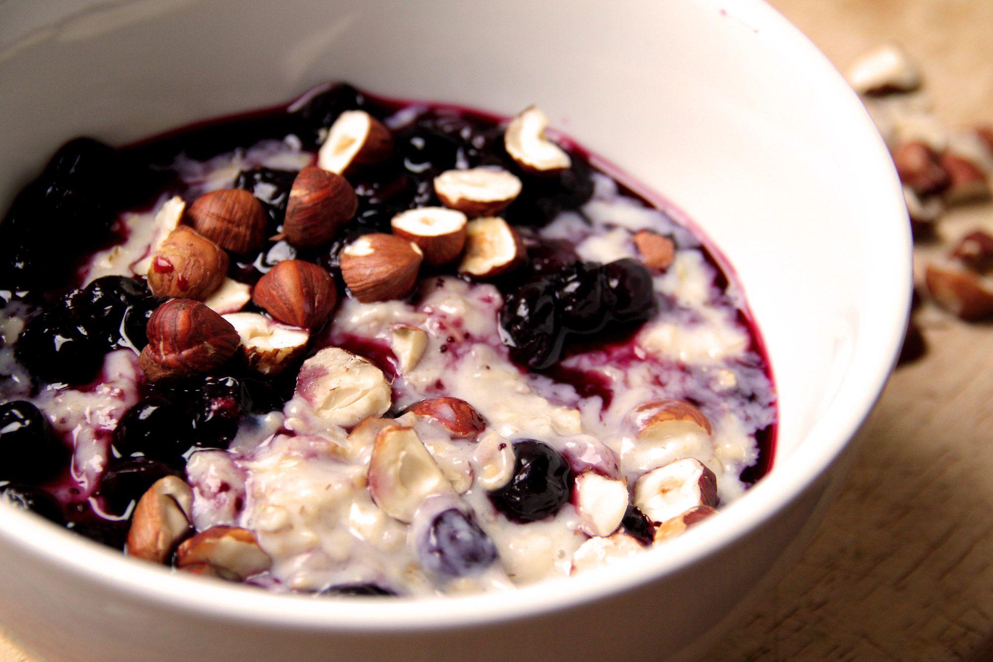 Vegetario » Porridge de Arándanos