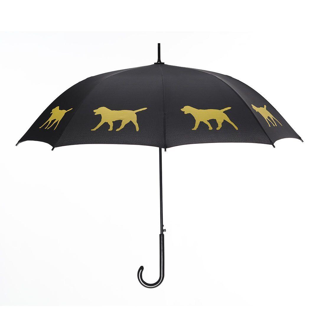 Yellow Labrador Retriever Umbrella Yellow on Black