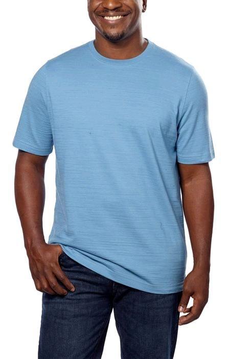 Kirkland Signature Mens Pima Cotton Slub Knit T Shirt Ultra