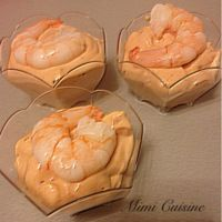 Verrines de crevettes sauce cocktail