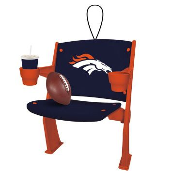 Broncos Stadium Chair ornament for your home, car or truck.