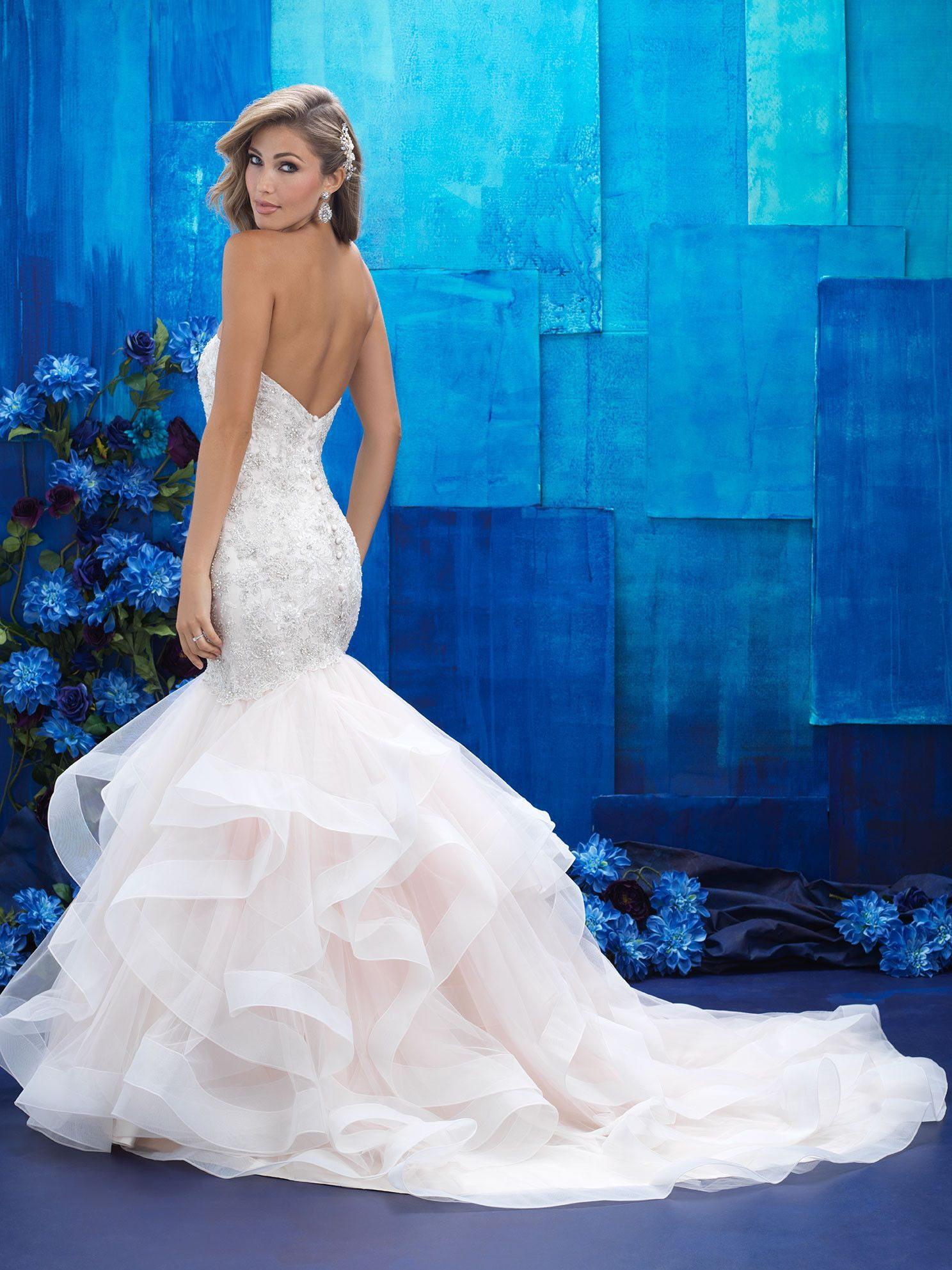 Mermaid ruffle wedding dress  Allure Bridals   Wedding DressesBridal Gowns  Pinterest