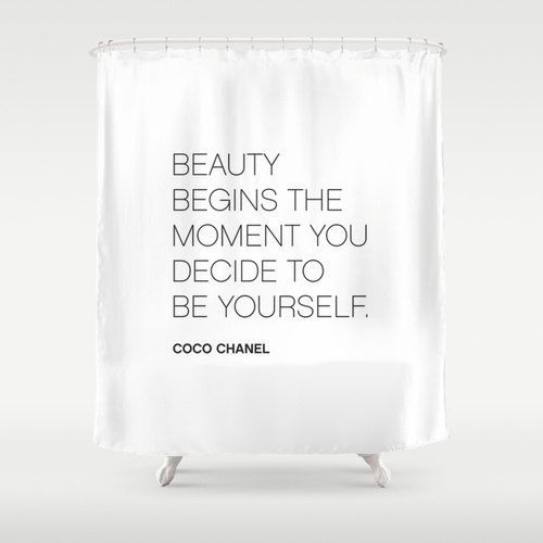 Quote Shower Curtain Bathroom Quotes Decor Shower Curtain Be